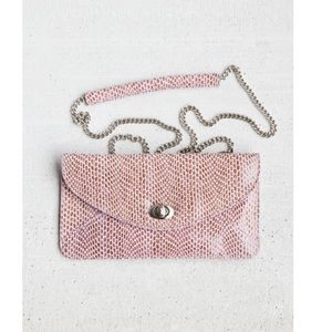 Nordstrom Sorial Coco Clutch. Pink small leather